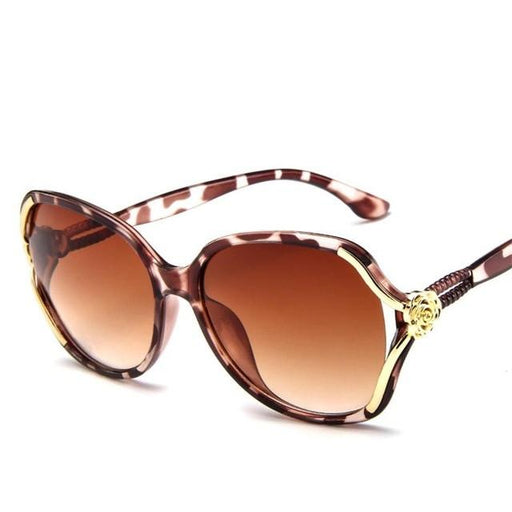 LeonLion 2019 Flower Sunglasses Women Gradient Classic Vintage Ladies Oversized Sun Glasses UV400 - SolaceConnect.com