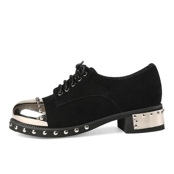 Sexy Rivet Women's Gothic Mid Heel Platform Pumps with Metal Decoration - SolaceConnect.com
