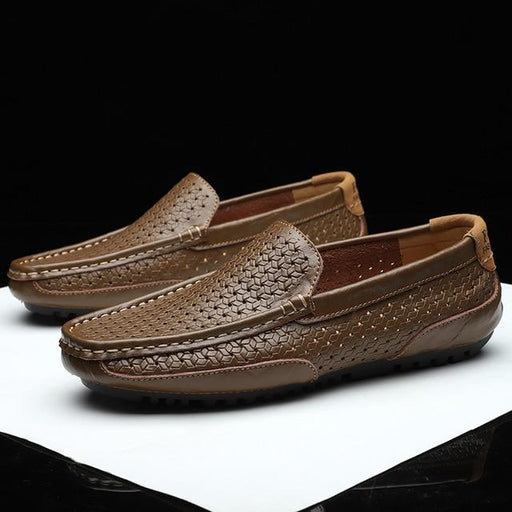 Men's Luxury Brand Genuine Leather Casual Italian Breathable Moccasins - SolaceConnect.com