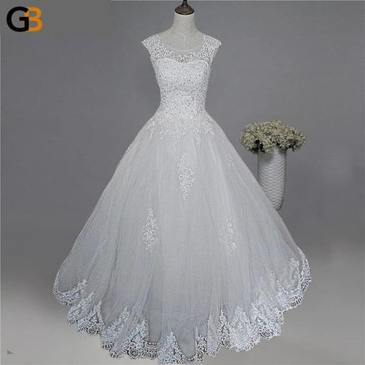 Maxi Style Plus Size Sweetheart Wedding Dress for Brides with Lace Edge - SolaceConnect.com