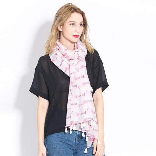VISROVER Fashion Summer Scarf For Women Scarf For Lady Viscose Shawl Tropical Print Scarf Head - SolaceConnect.com