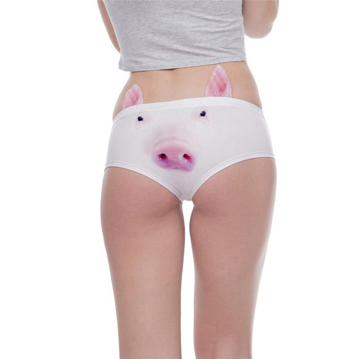 Kawaii Pig 3D Printing Sexy Fashion Underwear and Panties for Women - SolaceConnect.com