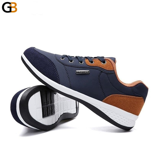Autumn Fashion Men's Lace-Up Microfiber Leather Casual Shoes - SolaceConnect.com