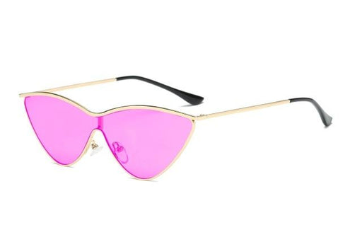 Small Triangle Alloy Frame Cat Eye Mirror Vintage Sunglasses for Women - SolaceConnect.com
