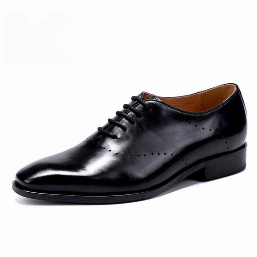 Men's Formal Genuine Leather Oxford Business and Wedding Dress Shoes - SolaceConnect.com