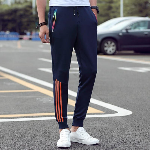 Men's Casual Slim Fit Striped Cotton Sweatpants and Jogger for Autumn Wear - SolaceConnect.com