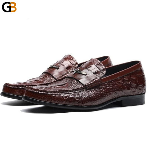 Mens Casual Genuine Leather Flats Loafers Comfortable Business Wine Red Black Formal Boat Shoes - SolaceConnect.com