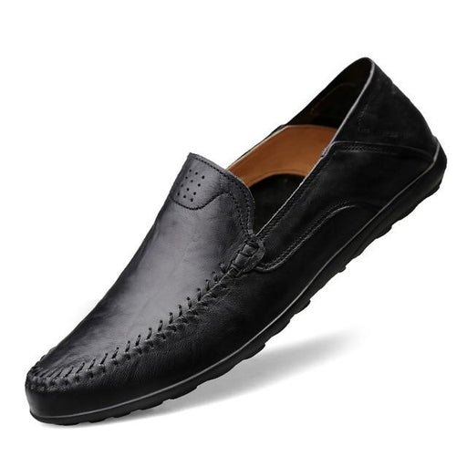 Men's Casual Luxury Brand Genuine Leather Breathable Slip On Moccasins - SolaceConnect.com