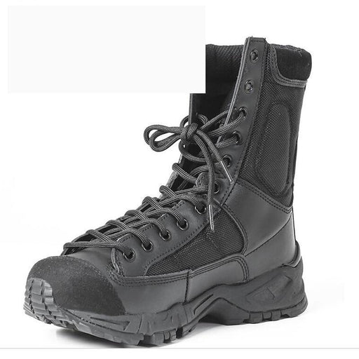 Plus Size 37 to 46 Men's Combat Tactical Army Ankle Strap Black Boots - SolaceConnect.com
