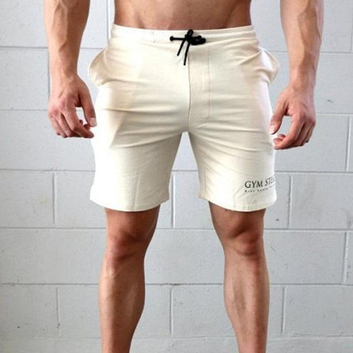 Men's Fitness Bodybuilding Polyester Cotton Drawstring Low Waist Shorts - SolaceConnect.com