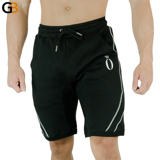 Men's Gym Fitness Knee Length Cotton Breathable Casual Slim Printed Shorts - SolaceConnect.com