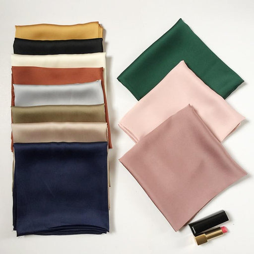 luxury brand bags SCARF women's silk scarf fashion lady square scarves soft shawls pashmina solid - SolaceConnect.com