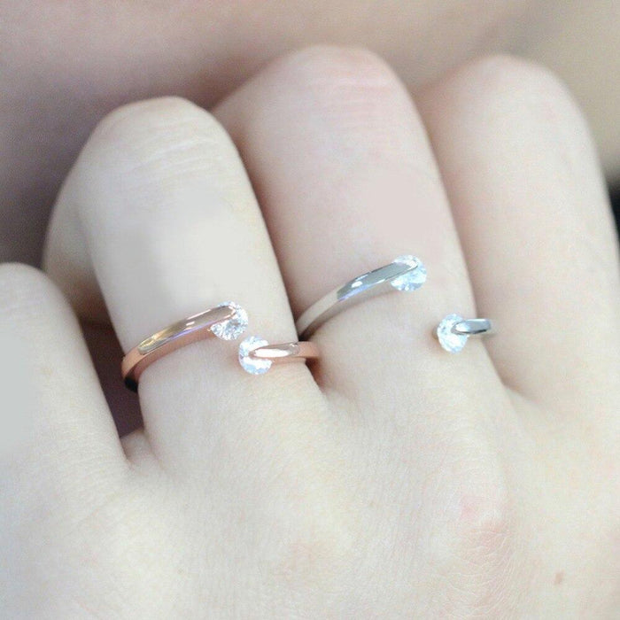 Classic Fashion Adjustable & Rotatable Rose Gold Women's Wedding Rings - SolaceConnect.com