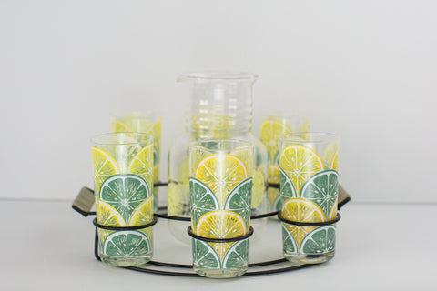 Lemonade Set | Six Glasses | 1960's
