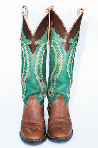 1980's Leather Cowboy Boots