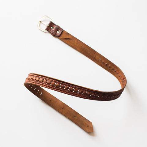 Unisex Weaved Leather Belt