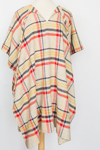 Stylish Plaid Poncho