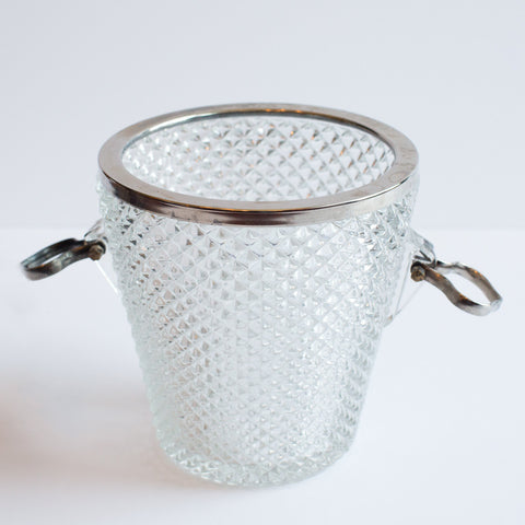 Clear Glass Triangle Bubble Bucket