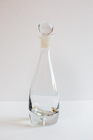 Glass Decanter with Unique Round Glass Stopper