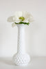 Small White Fenton Vase with Round Hobnail Texture