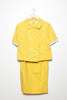Bonwit Teller Yellow Basketweave 3-Piece Suit - 1960- Size 2