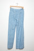 1980's Light Blue Denim Linen Trousers /Pants