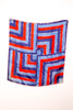 1970's Silk Red, White and Blue Scarf by Vera