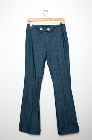 1980's Slightly Flair Dark Denim Trousers