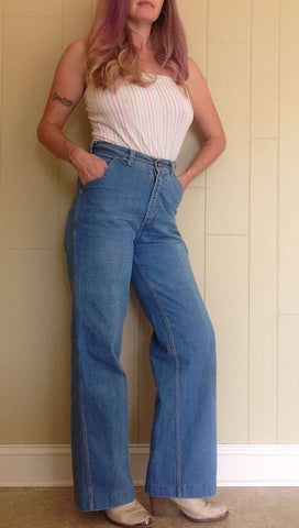 Vintage bluejean bell bottoms by bay britches/size 30 waist