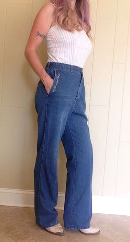 Vintage 70's blue jeans by fancy Props/32-34 waist