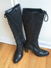 Sisley Knee High Black Granny Boot - Size 7