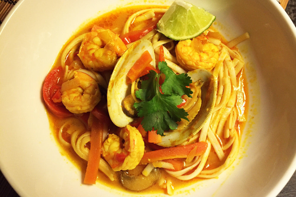 Recipe: Thai Seafood Noodle Soup