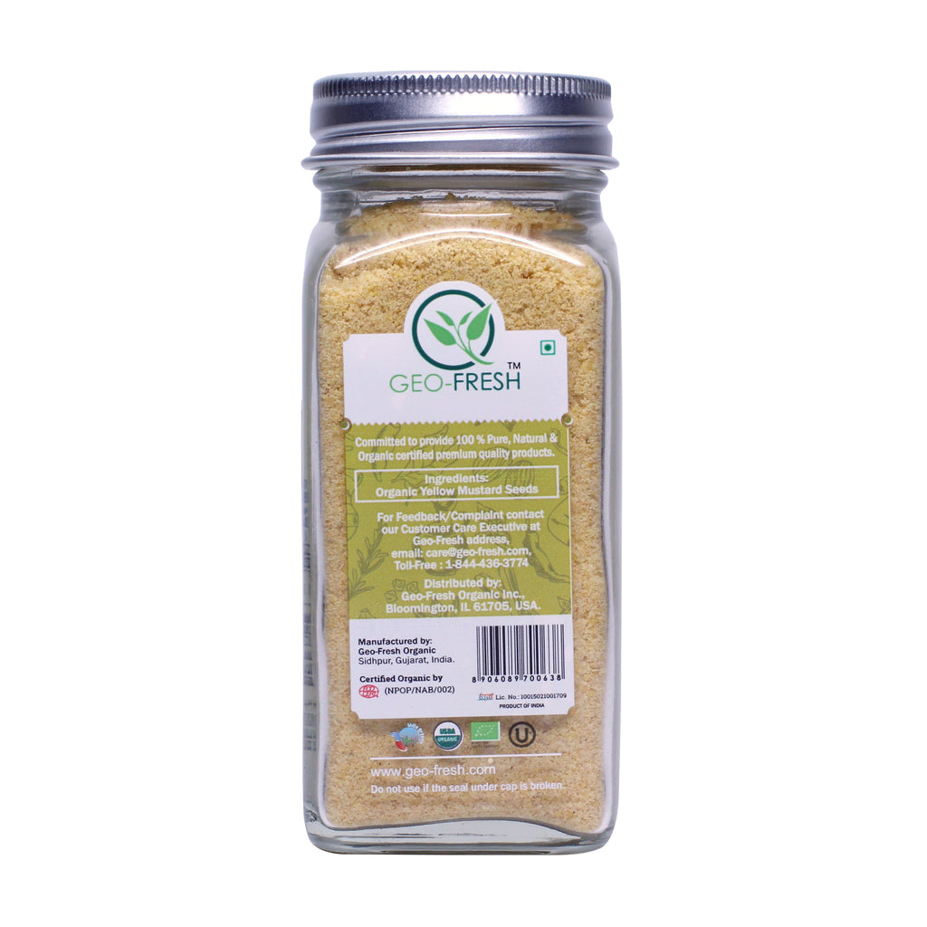 Geo-Fresh Organic Yellow Mustard Powder 1.76 oz