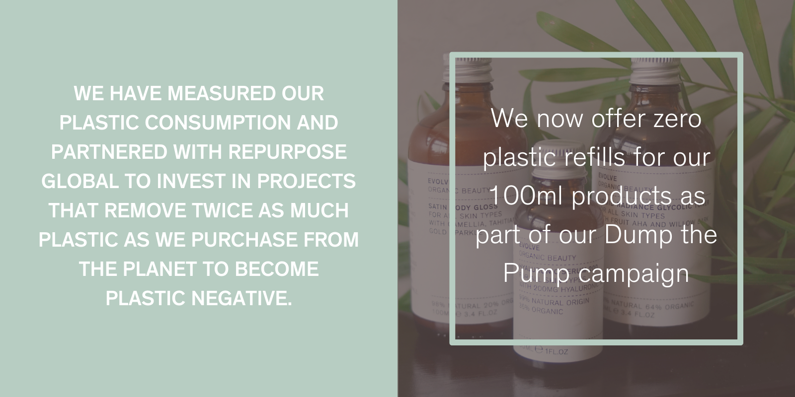 Evolve Beauty Zero Waste Commitments