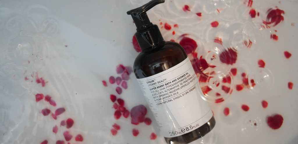 Super Berry Bath and Shower Oil Evolve Organic Beauty