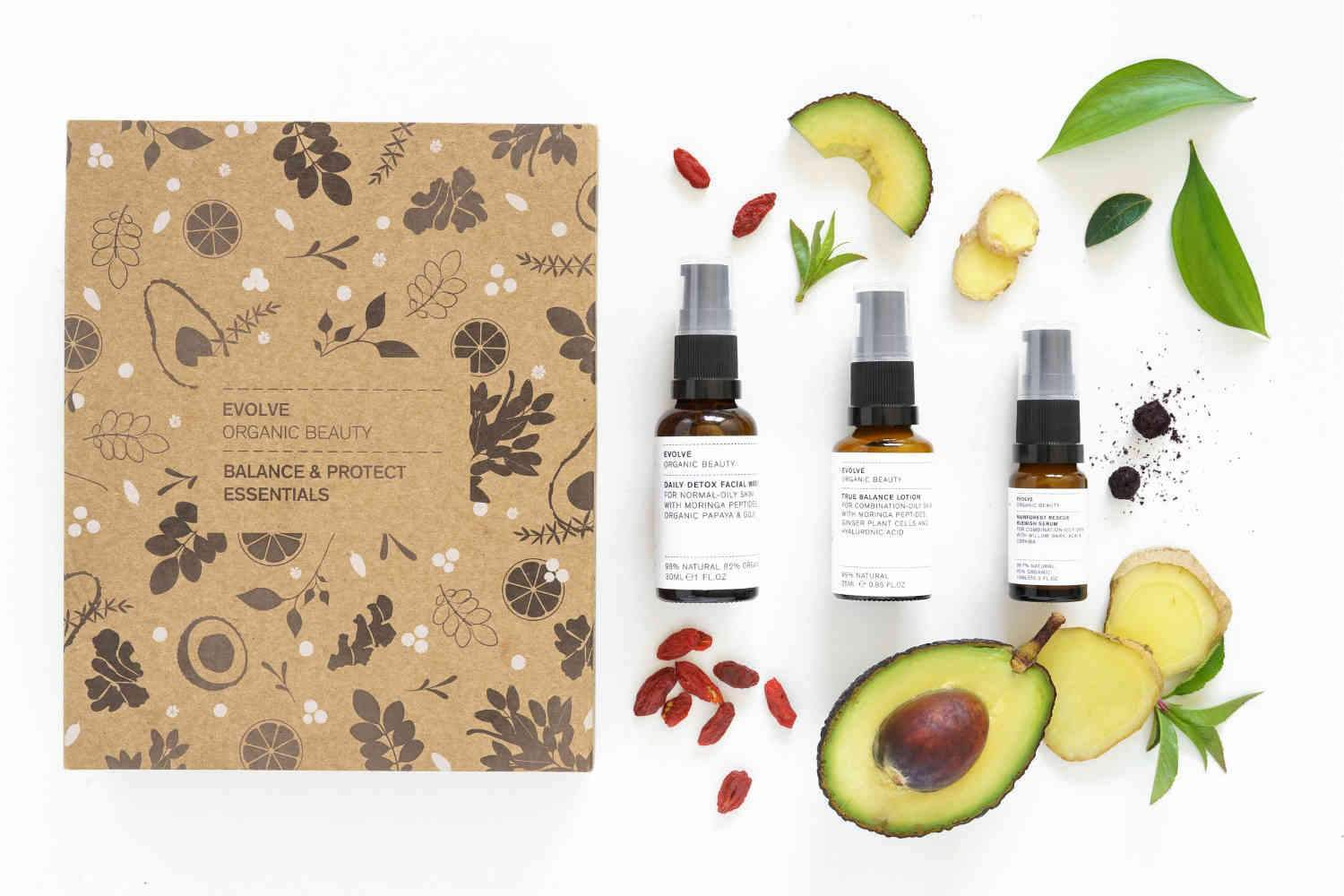 Natural Organic Balancing For Oily Skin Skincare Gift Set