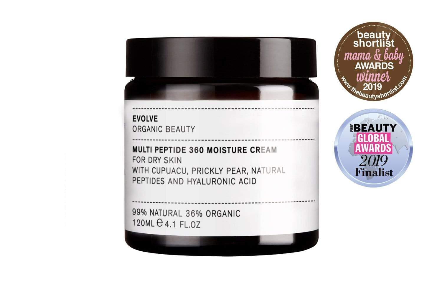 Evolve Organic Beauty Skincare Multi Peptide 360 Moisture Cream - 120ml Supersize