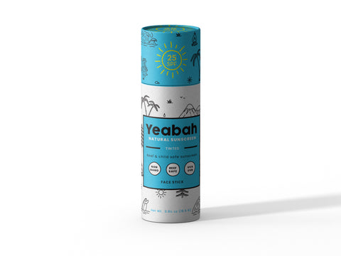 YeaBah Biodegradable Tinted Facestick Sunscreen - SPF 25