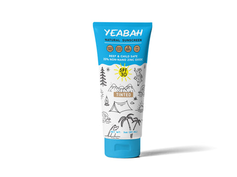 YeaBah Natural Tinted Mineral Sunscreen Lotion Face and Body - SPF 30