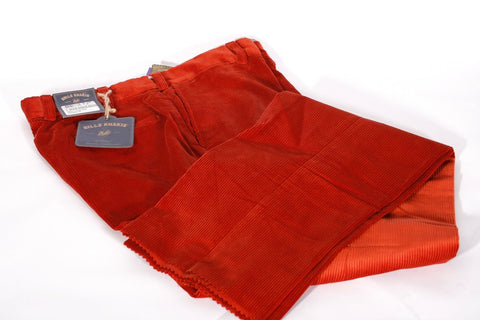 New Men's Bill Khakis Wide Wale Red Corduroys Flat Front Size 36 Retail $225
