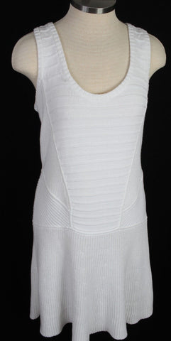 New Women's Donna Degnan White Knit Dress Size 10 MSRP $345