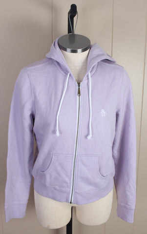 New Women's Original Penguin Purple Zip Hoodie Size Medium MSRP $65