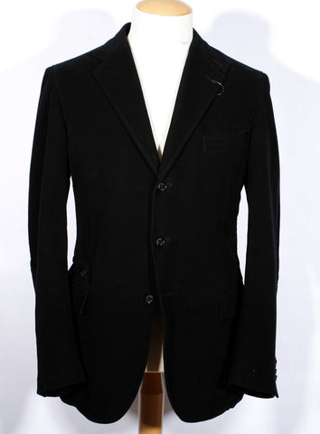 Men's Black Zegna CashCo Sportcoat 58 Reg IT 46 Reg US 3B SV $2195