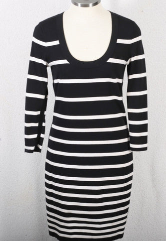 RAG & BONE KNIT black and white stripe dress size small