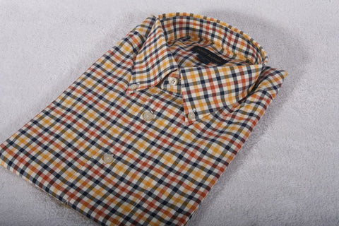 NEW Men's Scott Barber Check Button Down Size XL Retail $165