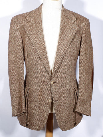 Men's Vintage Herringbone Tweed Sportcoat Polo Ralph Lauren 42 Long USA