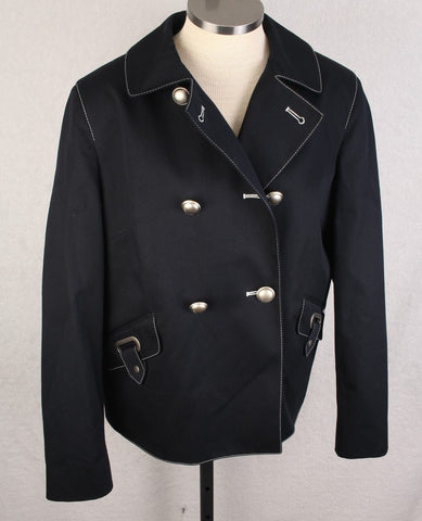 New Women's Saint James Navy Reefer Style Jacket Size 14 MSRP $625