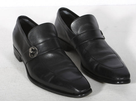 Men's GUCCI Black Leather Broadwick Loafer Size 11.5 D $695 Retail
