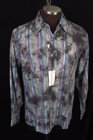 New Men's Ross Graison Cotton Sportshirt Size Medium Retail $225