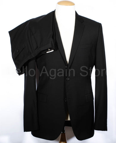 Men's HUGO BOSS Jam Model Black Wool Suit 44 Long
